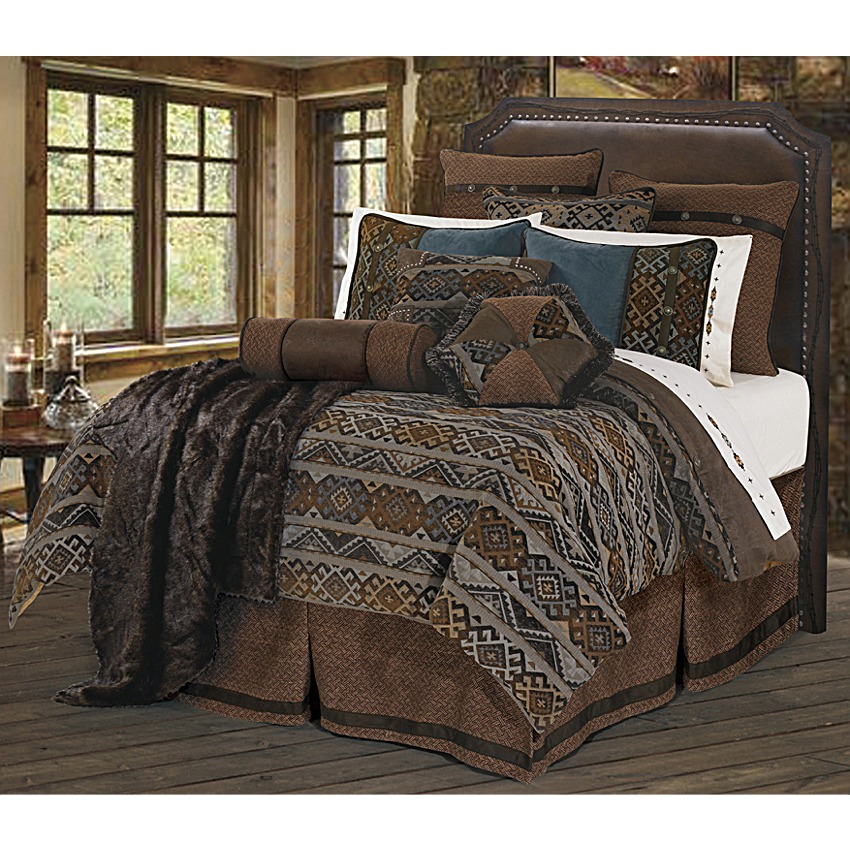 Southwestern Navajo Pattern Western Bedding Set Super King