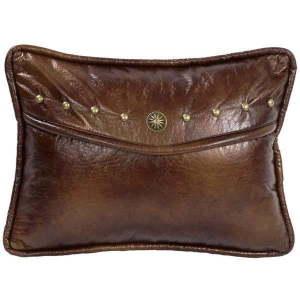 Oblong Faux Leather Pillow
