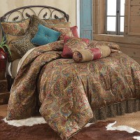 San Angelo Comforter Set With Leopard Bed Skirt