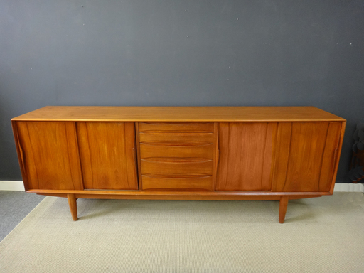 Danish Modern Teak Credenza  Retrocraft Design
