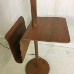 Mid Century Teak Laurel Floor Lamp With Side Table And Magazine Holder Retrocraft Design Collection Sold Items
