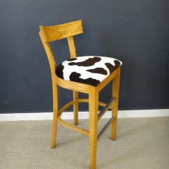 Bar Stool Chair Rung Protectors Leather Computer Reupholstered Vintage Wood Stools Retrocraft Design