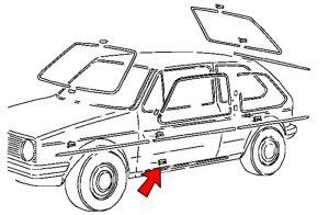 Spinka listwy progowej Volkswagen Caddy I Golf I Jetta