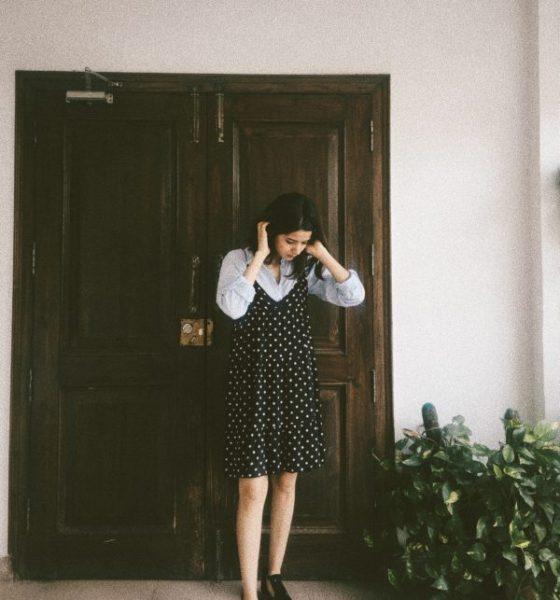 FZII6106 Pretty Polka Dot Dress