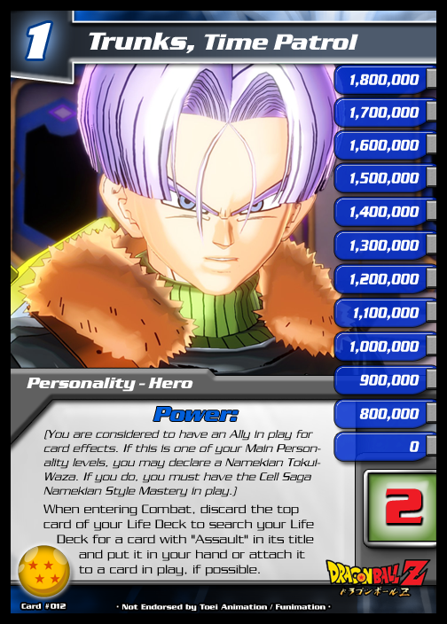 12 Time Patrol Trunks Lv. 1