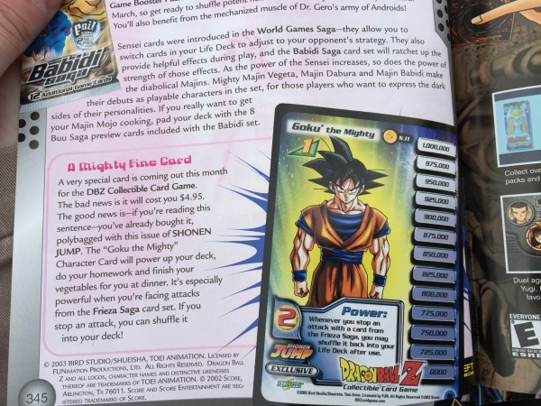 Shonen Jump Goku the Mighty Promo Page