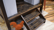 Viridian Reclaimed Wood's Truck Deck, a line of domestically sourced flooring and paneling derived from reclaimed red oak and white oak truck decking.