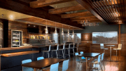 Viridian's products are milled from a mix of Douglas-fir and pine beams reclaimed from granaries and warehouses throughout the Pacific Northwest.