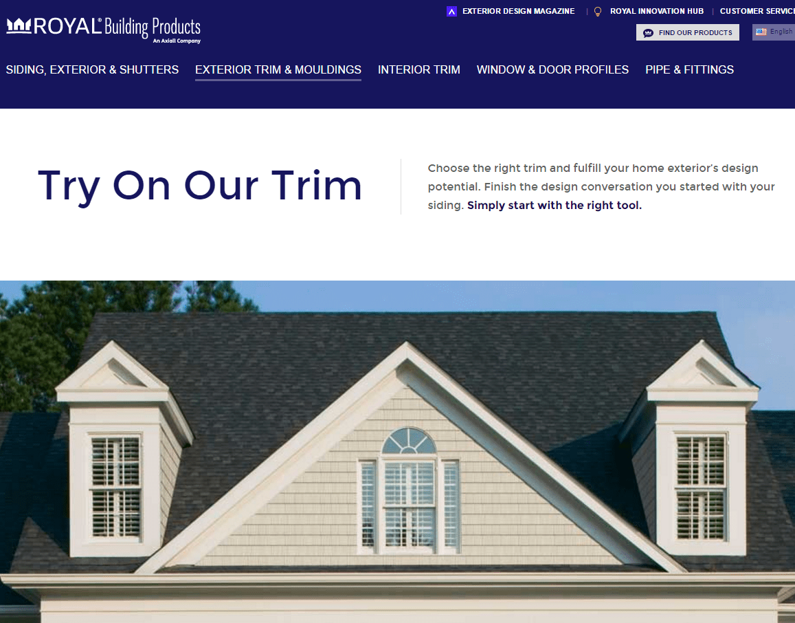 Royal Building Products, A Manufacturer Of Home Exterior Products,  Introduces Its Online Design Tool