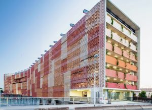 Fabrik prefabricated sheets can be installed in geometric patterns for creative flexibility.