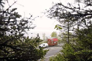During the 670-mile journey to their research base in Mingan, they will make several stop-overs to scope for whales and talk to people interested in their tiny house and minimal/ecological living.