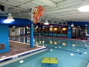 A 10- or 12-ton NE-Series dehumidifier heats, cools and dehumidifies the swimming space to 92 F and 55 percent relative humidity while using heat recovery to efficiently provide free 90 F pool water heating.