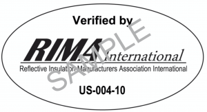 The RIMA-I verification is a voluntary program that has been established to identify reflective products which have fulfilled test requirements in accordance with the current applicable consensus standards.