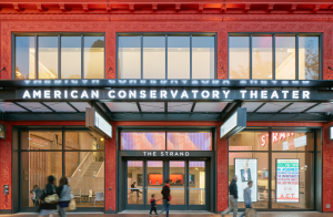 Built in 1917, the Strand Theater now serves as the second performance venue and an education center for the non-profit American Conservatory Theater.