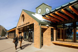 The primary goal of the renovation was to maintain the historic and familiar roof arrangement of the original 1980s transit center.
