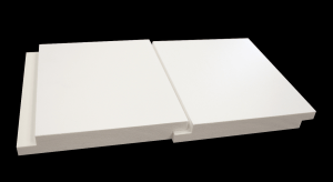The shadow lines of shiplap and nickel-gap boards for siding, interior walls and ceilings are now attainable in maintenance-free PVC from Versatex Building Products LLC.