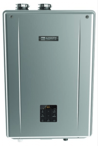 The Noritz Residential Combination Boiler (NRCB) allows for simultaneous residential domestic hot water and space heating and performs at a 95 percent annual fuel utilization efficiency.