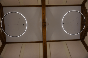 Notable upgrades include 2-inch-thick acoustic panels installed on the cathedral ceilings and modern LED lighting.