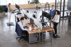 Any sit-stand desk provides flexibility to the employee using it. However, it is also important for any such solution to fit into the larger framework of the flexible office.