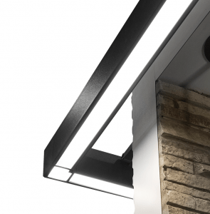 Housings of the Pursuit exterior linear luminaire from Architectural Area Lighting can be connected to form an uninterrupted ribbon of light up to 150 feet without any breaks or light leaks.