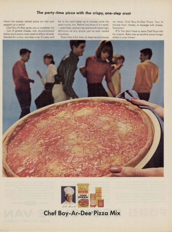 Vintage Pizza Party Chef Boy-Ar-Dee
