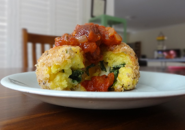 Spinach and Cheese Arancini