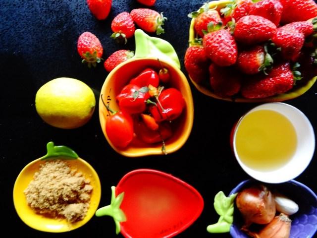 Strawberry Habanero Sauce Ingredients