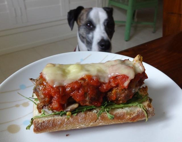 Molten Meatball Sandwich