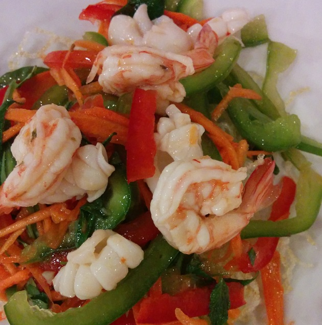 Prawn Salad  Lotus Blanc