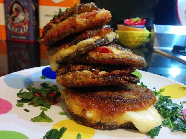 Eggplant Salami Sandwich
