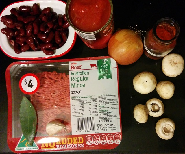 A-Z of Cooking - Chili Con Carne Ingredients