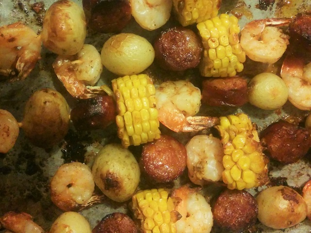 Old Bay Shrimp Broil
