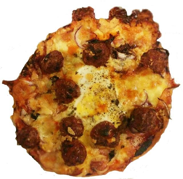 Sausage, Ham & Egg Pizza