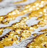 Weiß-Gold-Wechsel-Pailetten