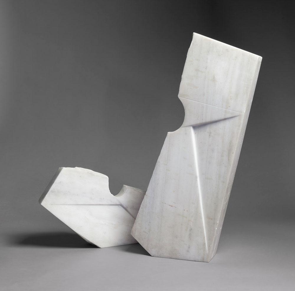 Space Elements, 1958, by Isamu Noguchi (American, 1904–1988). Greek marble.
