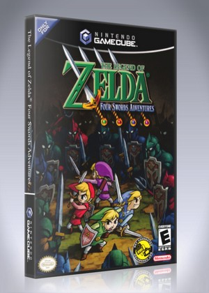 The Legend Of Zelda Four Swords Adventures : legend, zelda, swords, adventures, Gamecube, Legend, Zelda:, Swords, Adventures, Retro, Cases