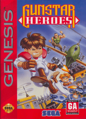 gunstar heroes genesis box art front cover