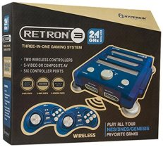 retron 3 video game console bravo blue package