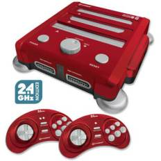retron 3 video game console laser red