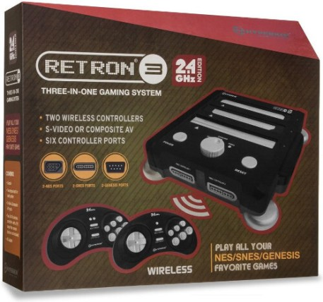 retron 3 video game console onyx black package