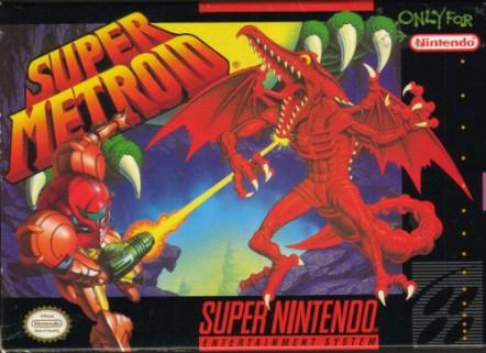 super metroid snes box art front cover