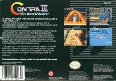 contra iii the alien wars snes box art back cover