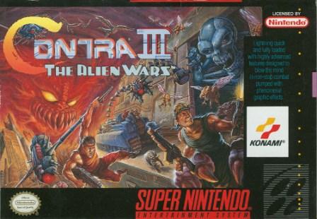 contra iii the alien wars snes box art front cover
