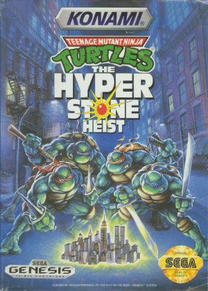 teenage mutant ninja turtles the hyperstone heist genesis box art front cover