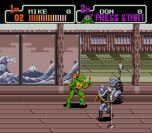 teenage mutant ninja turtles the hyperstone heist genesis screenshot 2