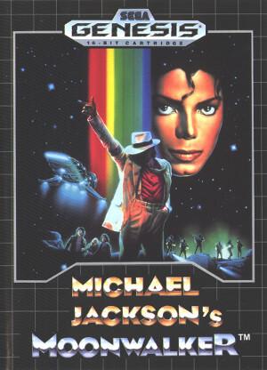 michael jackson's moonwalker genesis box art front cover