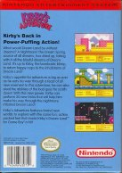 kirby's adventure nes box art back cover