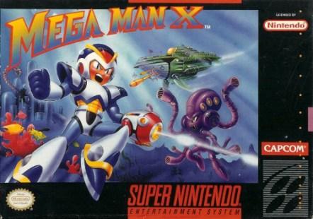 mega man x snes box art front cover