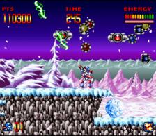 super turrican snes screenshot 2