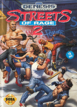 streets of rage 2 genesis box art front cover